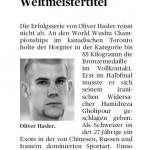 Hasler bestätigt den Weltmeistertitel - Oliver Hasler